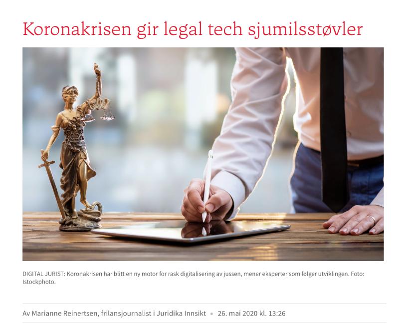 Digitale domstoler er mer enn et teknologiprosjekt. Det er et spørsmål om omorganisering.